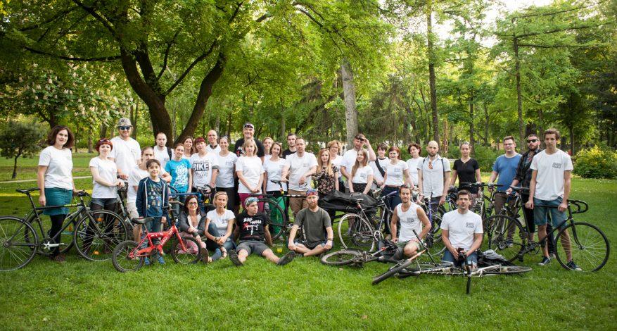 A Budapest Bike Maffia tagjai